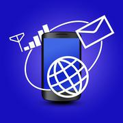 Mobile phone Stock Illustration