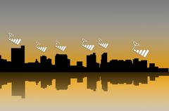 Building's silhouettes Stock Illustration