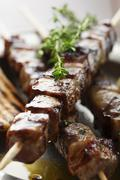 Stock Photo of meat skewer