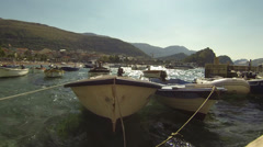 Boat Harbor on a Windy Day Stock Footage