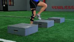 Female Athlete Box Drill Angled - stock footage