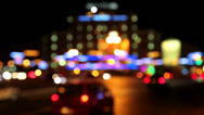 Stock Video Footage of Cars in night city, defocused and with stereo sound