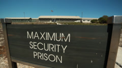 Robben Island maximum security prison Stock Footage