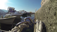 Stock Video Footage of Boats and Yachts Tied up in Mediterranean Harbor