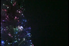 Glowing White Christmas Tree - E - 720x480 - 1 minute loop Stock Footage