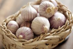 chinese garlic - stock photo