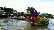 Stock Video Footage of Cai Rang Floating market. Mekong delta, Vietnam
