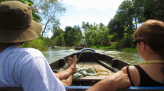 Boat trip in the Mekong delta Stock Footage