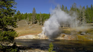 YELLOWSTONE PARK – RIVERSIDE GEYSER Stock Footage