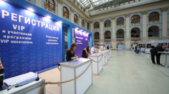 Reception area at Russia Marine Industry Conference 2012 Stock Footage
