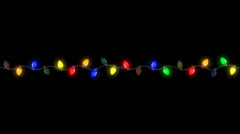Blinking Christmas Lights ALPHA LOOP Stock Footage