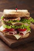 club sandwich - stock photo