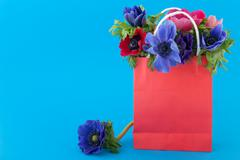 Stock Photo of colorful bouquet anemones