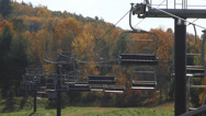 Stock Video Footage of Mohawk Mountain Ski lifts in Autumn (1 of 5)