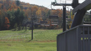 Stock Video Footage of Mohawk Mountain Ski lifts in Autumn (2 of 5)