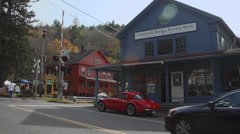 Cornwall Bridge Pottery Store (2 of 3) Stock Footage