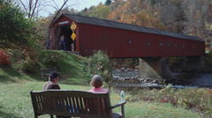 Covered bridge side view (3 of 7) Stock Footage