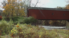 Covered bridge side view (6 of 7) Stock Footage