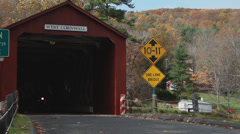 Covered bridge entrance (4 of 6) Stock Footage