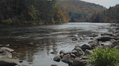 Scenic view of rock-lined river (3 of 5) Stock Footage