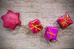 Stock Photo of christmas star and gifts