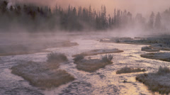 YELLOWSTONE PARK – MORNING STEAM # 2 Stock Footage