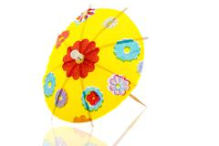Stock Photo of yellow paper parasol