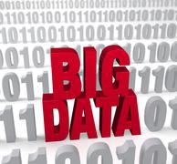 Stock Illustration of big data in the numbers