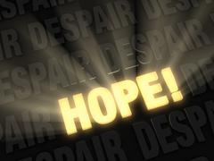 the bold light of hope - stock illustration