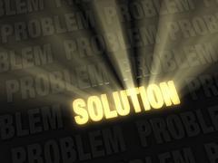 brilliant solution - stock illustration