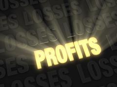 profits shine - stock illustration