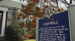 Town of Cornwall sign (1 of 2) Stock Footage
