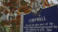 Town of Cornwall sign (2 of 2) Stock Footage