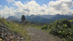 Hiking through caucasus Stock Footage