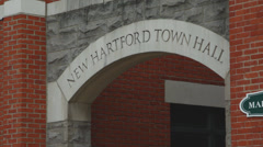New Hartford Town Hall building (2 of 2) Stock Footage
