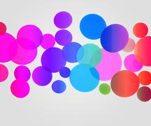 color balls background - stock photo
