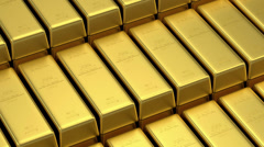 Stack of Golden Bars Stock Footage