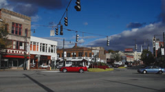 Downtown Torrington shops and streets (1 of 4) Stock Footage