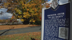 Winchester Center historic sign (2 of 2) Stock Footage