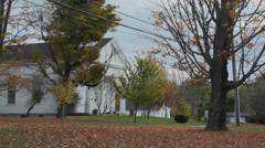 Winchester Center church and field (1 of 2) Stock Footage