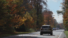 A two-lane road in Autumn (2 of 2) Stock Footage