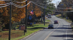 Local road in New England town (6 of 6) Stock Footage