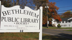 Bethlehem Public Library sign (2 of 2) Stock Footage