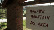 Stock Video Footage of Mohawk Mountain Ski Area sign (2 of 2)
