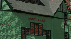 Infinity Hall and Norfolk village Stock Footage