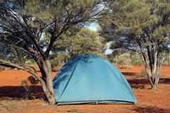 Wilderness camping in the australian bush Kuvituskuvat