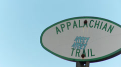 Sign for Appalachian Trail Stock Footage