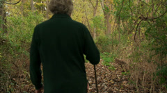 Man walking on Appalachian trail Stock Footage