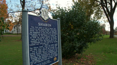 Historic sign for Sharon CT Stock Footage