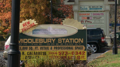 Middlebury Station signage (1 of 2) Stock Footage